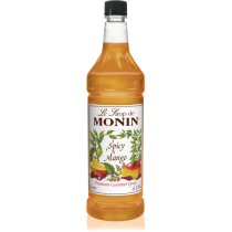 MONIN SPICY MANGO FLAVORED SYRUP, PLASTIC LITER BOTTLE - 4 PER CASE
