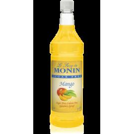 MONIN SUGAR-FREE MANGO FLAVORED SYRUP, PLASTIC LITER BOTTLE - 4 PER CASE