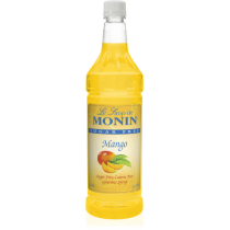 MONIN SUGAR-FREE MANGO FLAVORED SYRUP, PLASTIC LITER BOTTLE - 4 PER CASE