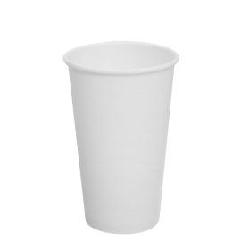 KARAT 16 OZ  WHITE PAPER HOT CUP C-K516W (1000/CS)