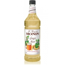 MONIN GINGER BEER SYRUP, PLASTIC LITER BOTTLE - 4 PER CASE