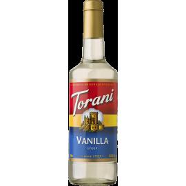 TORANI VANILLA FLAVORED SYRUP, (4/750ML) - 4 PER CASE