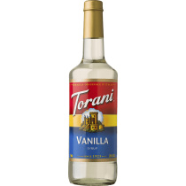 TORANI VANILLA FLAVORED SYRUP, (4/750ML) - 4 PER CASE