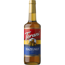 TORANI HAZELNUT FLAVOR, SYRUP (4/750ML) - 4 PER CASE
