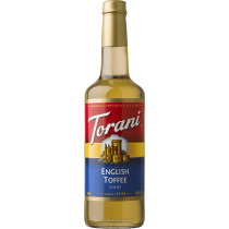TORANI ENGLISH TOFFEE FLAVOR, SYRUP (4/750ML) - 4 PER CASE