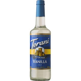 TORANI VANILLA *SUGAR FREE* FLAVOR SYRUP, 750 ML BOTTLE - 4 PER CASE