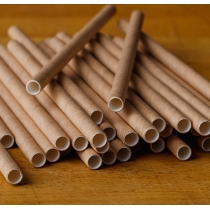 "FINELINE 7-3/4"" JUMBO NATURAL KRAFT UNWRAPPED PAPER STRAWS - 3,200 PER CASE"