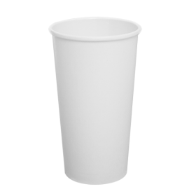 KARAT 20 OZ  WHITE PAPER HOT CUP C-K520W (1000/CS)