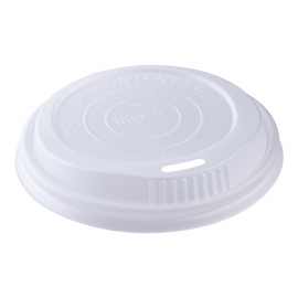 KARAT PLA WHITE  DOME SIP LID FOR 10-20 OZ CUPS, COMPOSTABLE (1,000)