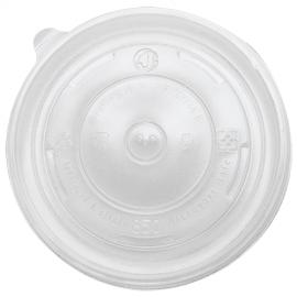 KARAT FLAT PLASTIC LID, FOR 24-32 OZ HOT/SOUP CONTAINER, KDL142-PP (600/CS)