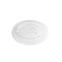 KARAT CLEAR SLOTTED LID FOR 32 OZ 107MM RIM CUPS, C-KC107TS - 500 PER CASE