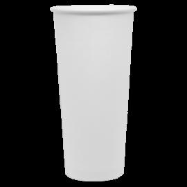 KARAT 24 OZ  WHITE PAPER HOT CUP C-K524W (1000/CS)