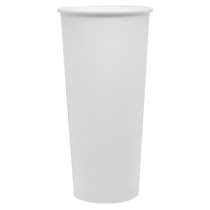 CUP, PAPER, 24 OZ, WHITE, HOT