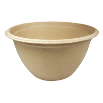WORLD CENTRIC 12 OZ ROUND BARREL UNBLEACHED PLANT FIBER BOWL - SOLD PER CASE OF 500