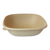 WORLD CENTRIC 48 OZ SQUARE UNBLEACHED PLANT FIBER BOWL - SOLD PER CASE OF 400