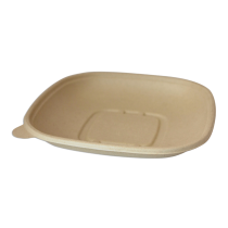 WORLD CENTRIC 24 OZ SQUARE UNBLEACHED PLANT FIBER BOWL - SOLD PER CASE OF 400