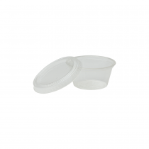 PORTION CUP LID, *COMPOSTABLE*, CLEAR, FOR 2 OZ CUP, PLA - 2,000 PER CASE