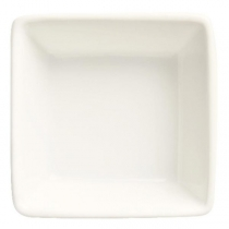 WTI BOWL, DIPPING, 2.75 OZ, SQUARE, ULTRA BRIGHT WHITE, SLATE - 36 PER CASE