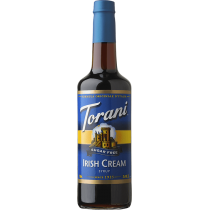 TORANI IRISH CREAM *SUGAR FREE* FLAVOR SYRUP, 750 ML BOTTLE - 4 PER CASE