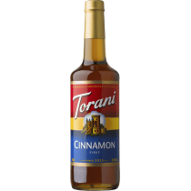 TORANI CINNAMON FLAVOR, SYRUP (4/750 ML) - 4 PER CASE