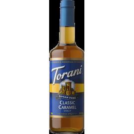 TORANI CARAMEL CLASSIC *SUGAR FREE* FLAVOR SYRUP, 750 ML BOTTLE - 4 PER CASE