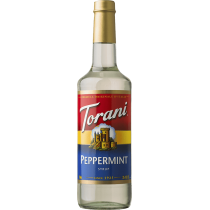 TORANI PEPPERMINT FLAVOR, SYRUP (4/750ML) - 4 PER CASE