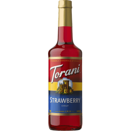 TORANI STRAWBERRY FLAVOR, SYRUP (4/750ML) - 4 PER CASE