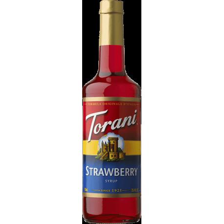 TORANI STRAWBERRY FLAVOR, SYRUP (4/750ML) - 4 PER CASE