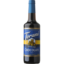 TORANI CHOCOLATE *SUGAR FREE* FLAVOR SYRUP, 750 ML BOTTLE - 4 PER CASE