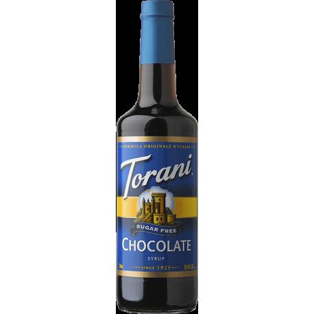TORANI CHOCOLATE *SUGAR FREE* FLAVOR SYRUP, 750 ML BOTTLE - 4 PER CASE