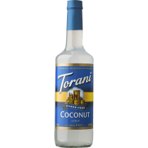 TORANI COCONUT *SUGAR FREE* FLAVOR SYRUP, 750 ML BOTTLE - 4 PER CASE