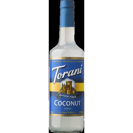 TORANI COCONUT *SUGAR FREE* FLAVOR SYRUP, 750 ML BOTTLE - 4 PER CASE