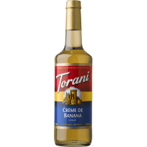 TORANI CREME DE BANANA FLAVOR, SYRUP (4/750ML) - 4 PER CASE
