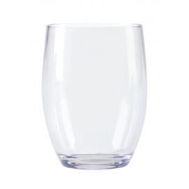 G.E.T. 12 OZ CLEAR PLASTIC STEMLESS WINE GLASS, SW1461-CL (24)