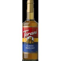 TORANI HAZELNUT CLASSIC FLAVOR, SYRUP (4/750ML) - 4 PER CASE