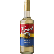 TORANI FRENCH VANILLA FLAVOR, SYRUP (4/750ML)  - 4 PER CASE