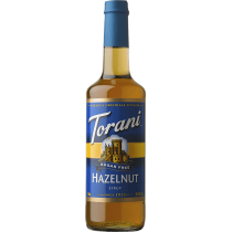 TORANI HAZELNUT *SUGAR FREE* FLAVOR SYRUP, 750 ML BOTTLE - 4 PER CASE