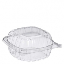"DART 5"" CLEARSEAL CLEAR PLASTIC HINGED LID CONTAINER, C53PST1, (500)"