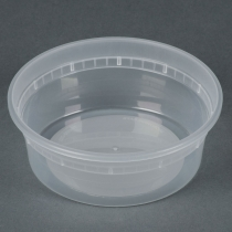 DELI CONTAINER 8 OZ HEAVY DUTY POLYPROPYLENE - 480 PER CASE CONTAINER ONLY