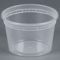 DELI CONTAINER 16 OZ HEAVY DUTY POLYPROPYLENE - 480 PER CASE CONTAINER ONLY