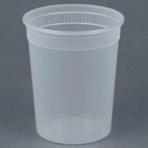 DELI CONTAINER 32 OZ HEAVY DUTY POLYPROPYLENE - 480 PER CASE CONTAINER ONLY