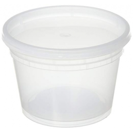 16 OZ DELI CONTAINER & LID COMBO HEAVY DUTY POLYPROPYLENE (240)