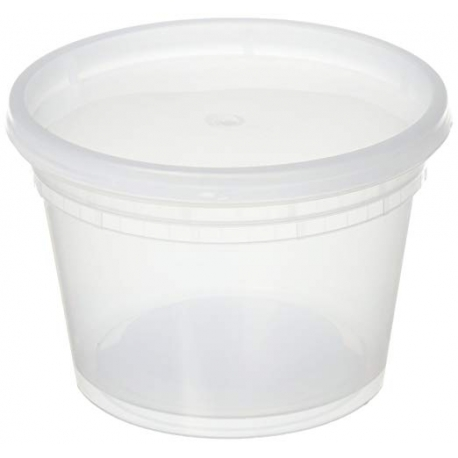 CONTAINER, DELI, 16 OZ, CLEAR,