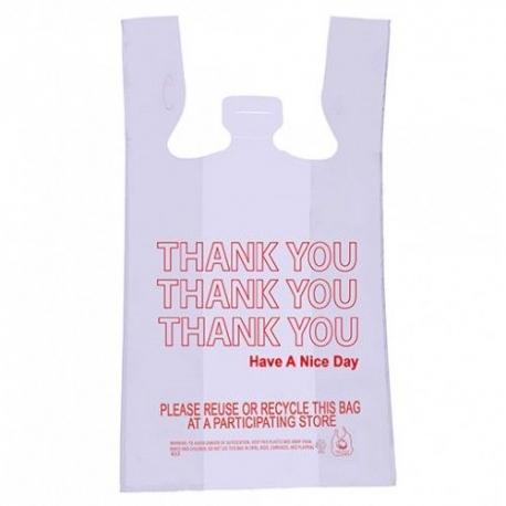 """BAG, PLASTIC, T-SHIRT """"""""THANK Y"""