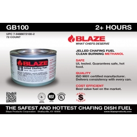 BLAZE® 2 HOUR GEL METHANOL CHAFING DISH FUEL - 72 PER CASE