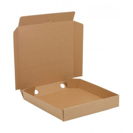 "PIZZA BOX, 10"", KRAFT, PLAIN (NO PRINT) CORRUGATED B-FLUTE - 50 PER BUNDLE"