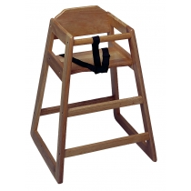 HIGH CHAIR, WALNUT (LIGHT) WOOD FINISH - SOLD EACH