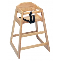 HIGH CHAIR, NATURAL (MEDIUM) WOOD FINISH - SOLD EACH