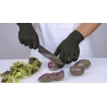 ELARA  LARGE *POWDER-FREE* BLACK NITRILE GLOVES, EVERFITBLACK3G, FNE303BK (1000/CS)