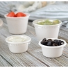 CLEAR PORTION CUP LID FOR 2 OZ BAGASSE PORTION CUP (2,500) FINELINE SETTINGS